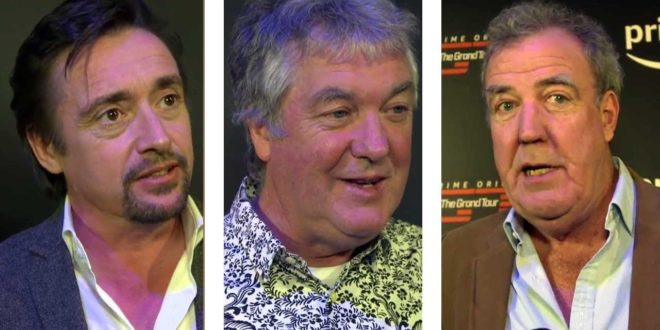 The Grand Tour Launch Party in NY with Interviews of Clarkson Hammond and May