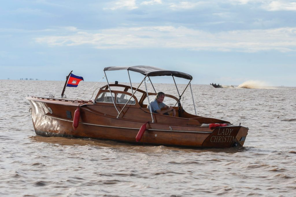 Andy Wilman on James´ Boat